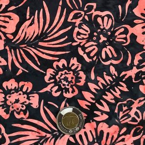 CHARCOAL CORAL FLORAL